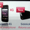 Confirmed T-Mobile SideKick 4G, Samsung Galaxy S 4G