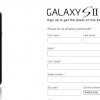 Samsung Galaxy S II SignUp Page is Live!