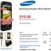 Cheapest SmartPhone? Samsung Conquer 4G for $19.99 with new Contract