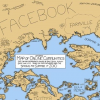 Cartoonist creates World Maps of Social Networking