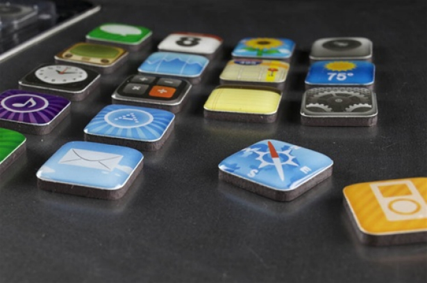 iPhone apps as fridge magnets