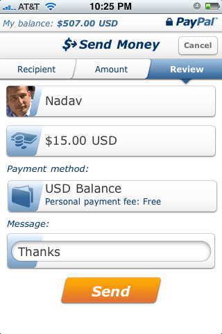 Paypal App for iPhone
