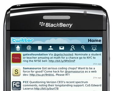 BlackBerry Twitter Beta Application Launched