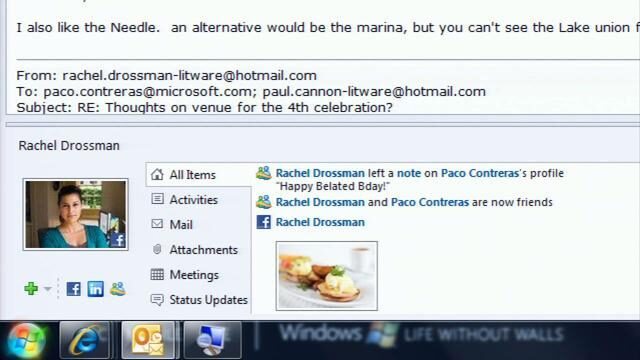 Microsoft Outlook integrates with Facebook!