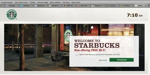 Starbucks makes WiFi free and easier to access