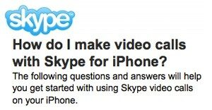 Skype on iPhone 4 to Bring Video Calls