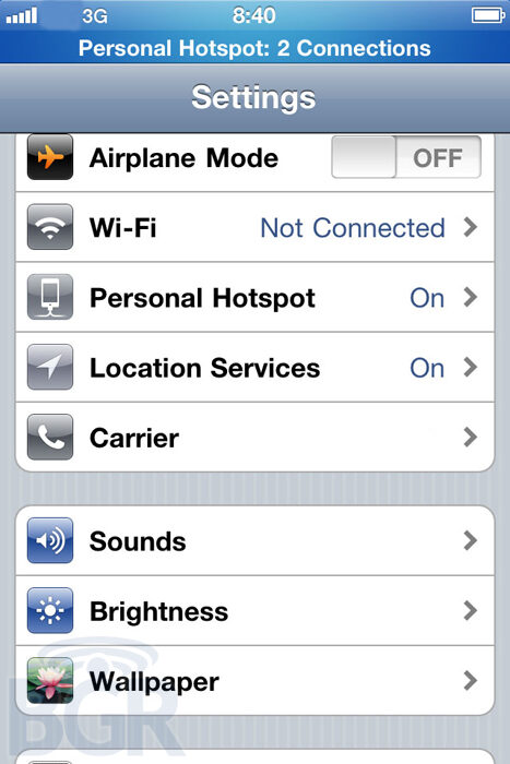 iPhone to get Personal Hotspot with iOS 4.3