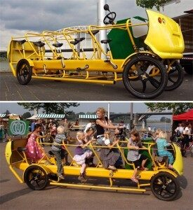 Want To Fight Child Obesity? How about a Pedal Powered School Bus!
