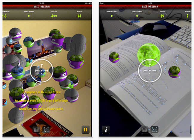Augmented Reality with iPad2 Ball Invasion Game!