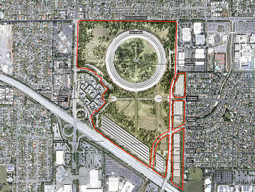 Apple's SpaceShip Campus revealed at Cupertino