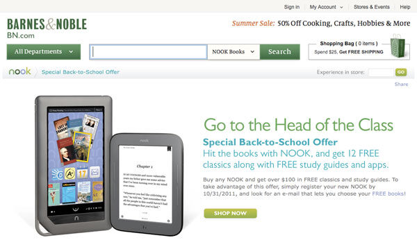 B&N Offering $100 Discount On All Nook Models!