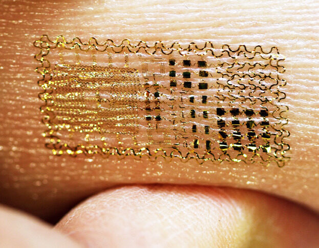 Temporary Tattoos now with Micro Electronics to make Ultrathin Sensors