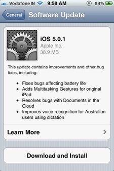 New Address Bug in iOS 5.0.1 while Battery life Issues Remain!
