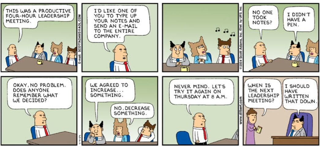 Don't Executive Meetings Happen This Way!?